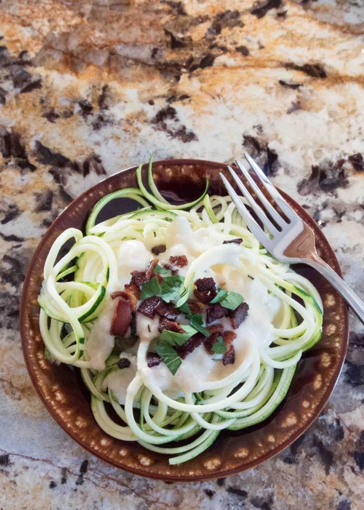 Healthier Fettucine Alfredo ~ by My Utensil Crock