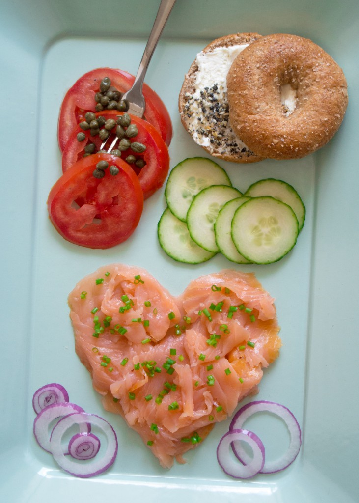 "Smoked Salmon Plate with ""Everything Bagel"" Seasoning ~ by My Utensil Crock"
