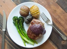 Herb Crusted Filet Mignon with Zinfandel Shallot Sauce ~ by My Utensil Crock