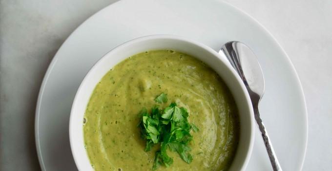 Lentil Cilantro Soup {Easy + Healthy}