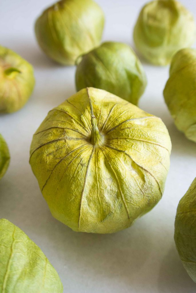 Easy Roasted Tomatillo Salsa ~ by My Utensil Crock