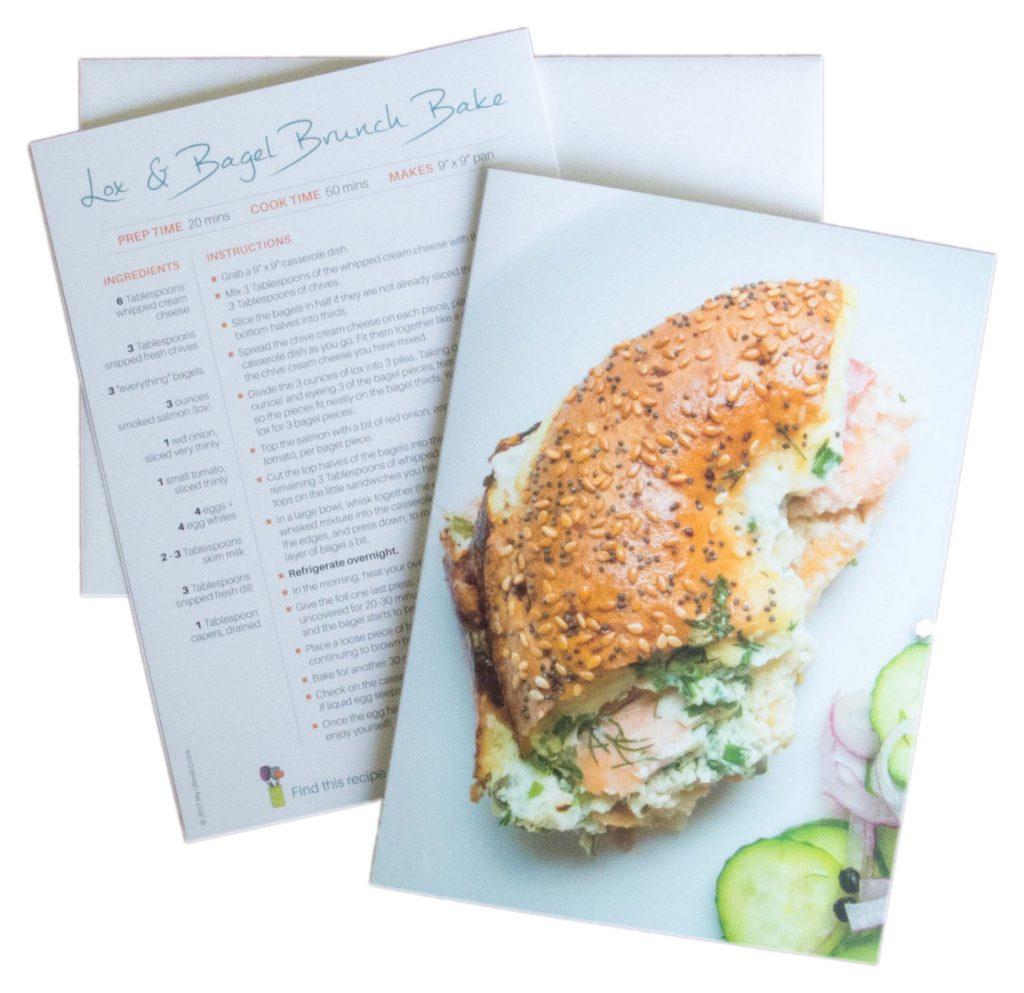 Lox and Bagel Brunch Bake ~ delicious grEATings ~ by My Utensil Crock