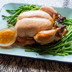 Cider Brined Roasted Chicken with Cider Glaze {Repost}