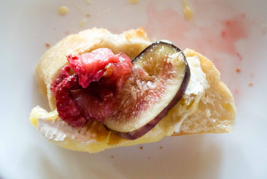 Grilled Brie with Fig and Strawberry Topping ~ by My Utensil Crock