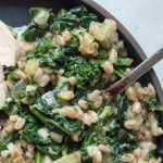 Good-Luck Healthy Cheesy Greens and Farro