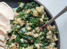 New Years Healthy Cheesy Greens with Farro | by My Utensil Crock