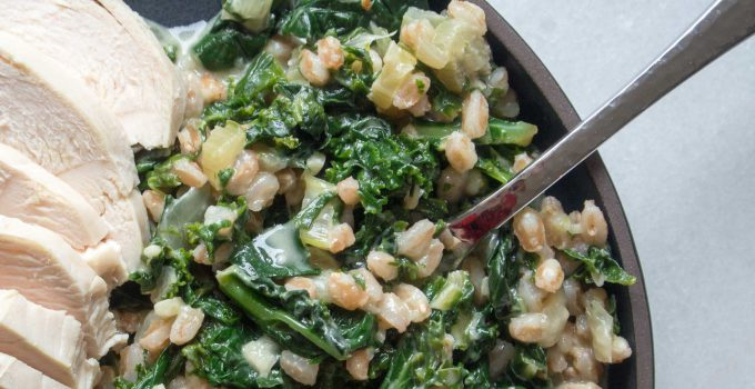 Good-Luck Healthy Cheesy Greens and Farr...