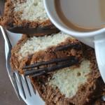 Mocha Marble Loaf Cake with Espresso Glaze