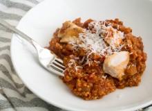 Marinara Quinoa with Chicken ~ by My Utensil Crock