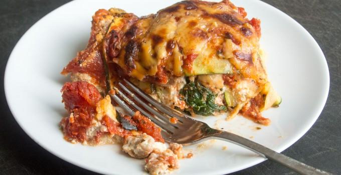 Italian Sausage Lasagna with Zucchini No...
